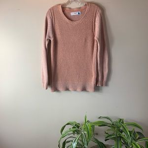 Anthropologie Sparrow Peach Chunky Knit Sweater